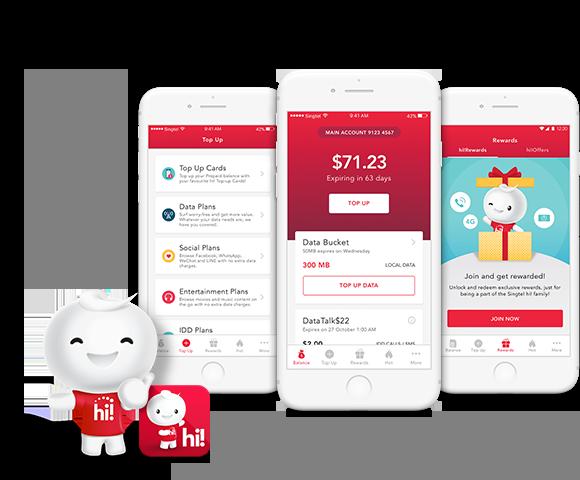 SingTel Prepaid hi! - 2359 | Web & Mobile App Development, UI UX